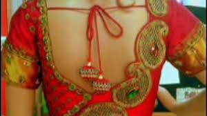 dailymotion blouse embroidered sarees with sleeve blouse 2015