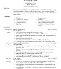 traditional resume template nanny resumeles frightening qualification objective skills