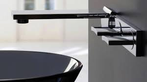 Designer Bathroom Fixtures Black And Chrome Modern Types Of Wall Mounted Bathroom Faucets In