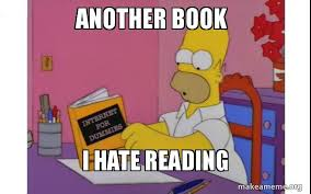 Reading Book Meme - another book i hate reading computer homer make a meme