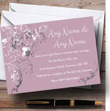 personalized wedding invitations lilac vintage shabby chic pattern personalized wedding invitations