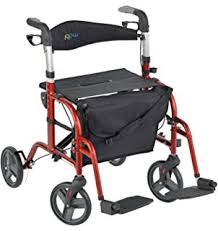 Airgo Comfort Plus Transport Chair Amazon Com Airgo Navigator 2 In 1 Transport Chair Rollator