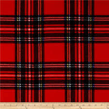 winter fleece stewart plaid discount designer fabric