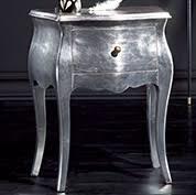 comodini foglia argento comodino 2 cassetti foglia argento