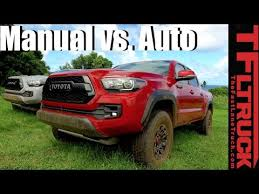 toyota tacoma manual transmission review 2017 toyota tacoma trd pro manual vs automatic road review