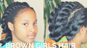 4 chunky flat twists hairstyle natural hair kids youtube
