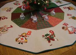 12 days of tree skirt advanced embroidery designs