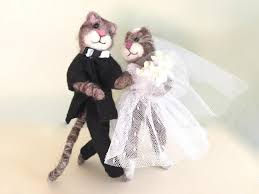 wedding cake topper funny cats wedding cake topper cat bouquet