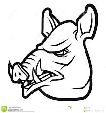 wild boar head in cartoon style stock photo image 65375814