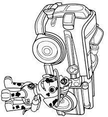 paw patrol coloring pages marshall and firetruck coloring home
