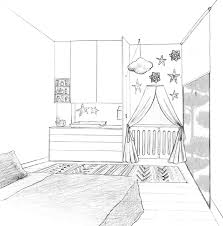 dessin chambre en perspective dessin 3d chambre avec beautiful chambre en perspective dessin idées