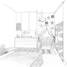 chambre en perspective dessin 3d chambre avec beautiful chambre en perspective dessin idées