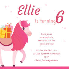 party pony free printable birthday invitation template