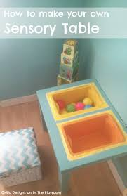 how to make your own sensory table awesome diy sensory table ikea
