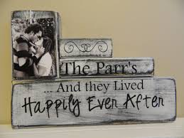 custom wood name sign personalized wedding giftlast name