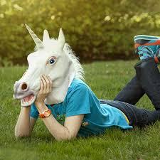 aliexpress com buy sale halloween white unicorn horse head