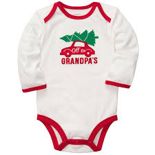 first thanksgiving onesie amazon com carter u0027s unisex baby long sleeve christmas bodysuit