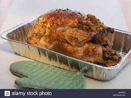 up of thanksgiving turkey in pan stock photo royalty free