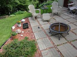 decor tips firepit construction with pea gravel patio and concrete