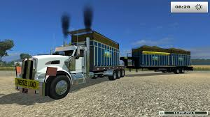 kenworth service truck kenworth flatbed bale truck v1 fs 2015 farming simulator 2017