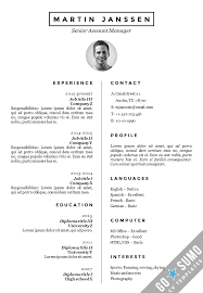 German Resume Sample by All Cv Templates Go Sumo