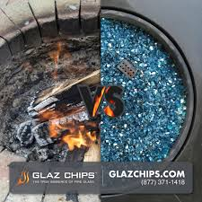 Fire Pit Lava Rock by Glaz Chips Fire Glass The Alternative Product For Fireplaces