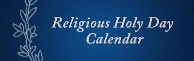 religious holy day calendar cus ministry georgetown