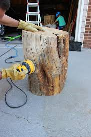 Tree Trunk Table Diy Tree Stump Table Twofeetfirst