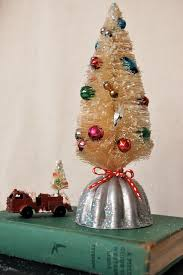 bottle brush tree u0026 vintage jello mold christmas decor art