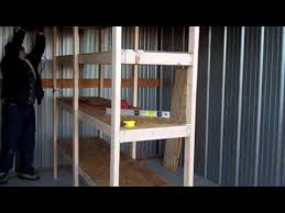 Building Wood Garage Shelves by How To Build Cheap Shelves Garage Storage Youtube