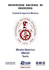 métodos numéricos teoría y problemas universidad nacional de