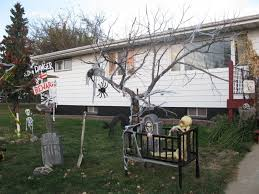 Home Outdoor Decorating Ideas Scary Diy Outdoor Halloween Decorations Artofdomaining Com