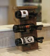 description this rustic wine rack is handmade with