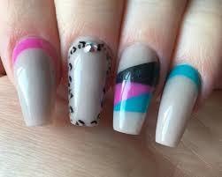 acrylic nails color block leopard print youtube