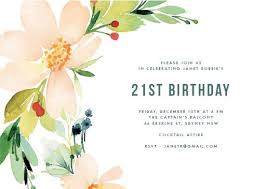 birthday invitations floral edge digital printing birthday invitations