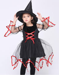 children in costumes cosplay animation perform female witch