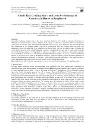 commercial risk model credit risk grading model and loan pdf download available