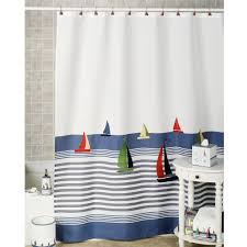 bathroom set ideas with natural beach landscape shower curtain