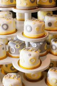 kara u0027s party ideas owl yellow grey gray twin baby shower party