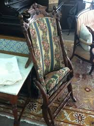 Victorian Upholstered Chair Gorgeous Antique Walnut Victorian Upholstered Folding Chair Circa