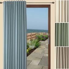 Pinch Pleat Patio Door Panel One Way Draw Patio Curtain Thermal Patio Door Curtain