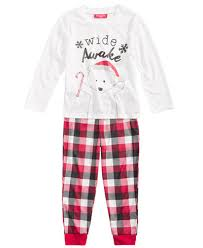 family pajamas boys or buffalo plaid wide awake pajama set