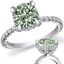 engagement rings green images Green round moissanite engagement ring fine jpg
