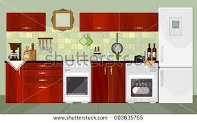 Design Of Modern Kitchen Free Kitchen Vector Design Download Free Vector Art Stock
