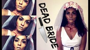 easy halloween makeup diy dead bride costume curlobsessed