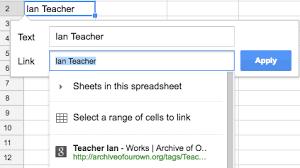 google sheets 20 u2013 adding links learning g suite u0026 apps script
