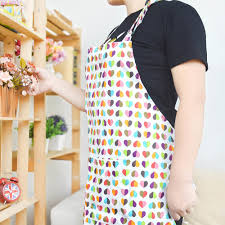 printed cotton kitchen apron canvas fabric uniform no sleeve
