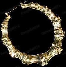 80s hoop earrings 3 5 big gold plated bamboo hoops 9cm hoop earrings retro