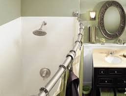 Shower Curtains For Small Bathrooms Small Bathroom Chic Expand Your Space With A Curved Shower