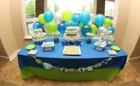 Baby Blue And Brown Baby Shower Decorations Themes For A Boy Baby Shower Boy Baby Shower Theme Ideas Bash